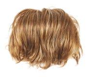 Peruca do cabelo isolada Foto de Stock
