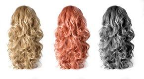 Peruca do cabelo longo foto de stock