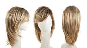 Peruca do cabelo sobre a cabeça do manequim Imagem de Stock