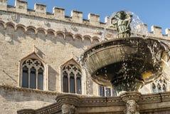Perugia - fonte monumental Fotos de Stock Royalty Free