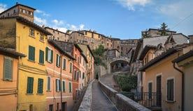 Perugia über Appia Acquedotto Lizenzfreie Stockfotos