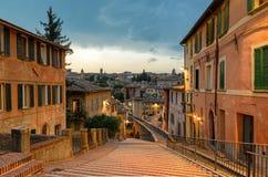 Perugia - über dell& x27; Acquedotto Stockbilder