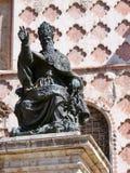 Perugia Bronze statue of Pope Julius III Stock Images