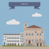 Perugia, city in Italy Royalty Free Stock Image