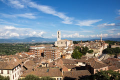 Perugia cityscape, view on San Domenico church Royalty Free Stock Photography