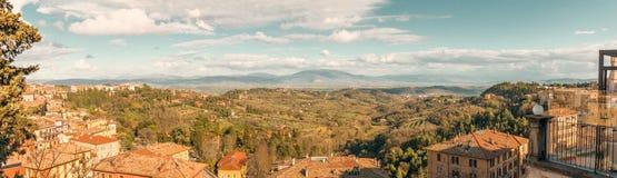 Perugia dalla cima Fotografia Stock