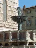 Perugia fountain major Stock Photos