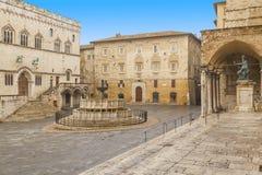 Perugia fyrkant Arkivfoto