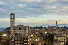 Perugia, horizon Royalty-vrije Stock Foto