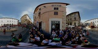 Perugia, Itália - 16 de junho de 2019 conflito tradicional video estoque