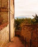 Perugia, Italië - 9 December 2017: De stad in Stock Afbeeldingen