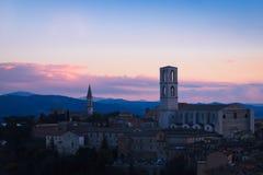 Perugia, Italië - 8 December 2017: San Domenico Basilica Royalty-vrije Stock Afbeelding