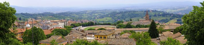 Perugia, Italia - vista panorámica de Perugia, capital de Umbría Foto de archivo libre de regalías