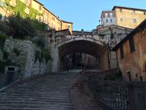 Perugia. Italy stairs traveling village Royalty Free Stock Photography