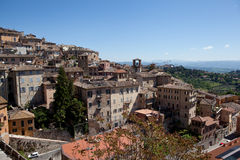Perugia. Italy. Umbrian landscape. Royalty Free Stock Photos