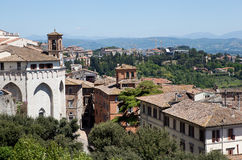 Perugia. Italy. Umbrian landscape. Royalty Free Stock Images