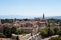 Perugia. Italy. Umbrian landscape. Royalty Free Stock Photography