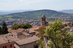Perugia. Italy. Umbrian landscape. Royalty Free Stock Photo