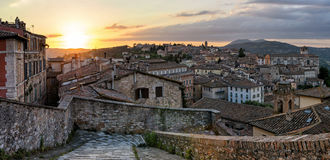 Perugia panorama from Porta Sole Stock Photos