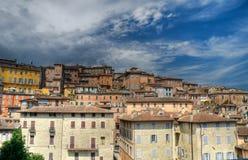 perugia panoramiczny widok Umbria Obrazy Stock