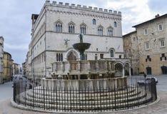 Perugia, piazza IV Novembre, Italia Fotografia Stock Libera da Diritti