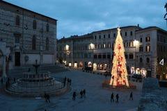 Perugia, praça IV Novembre foto de stock