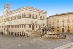 Perugia-Quadrat lizenzfreie stockbilder
