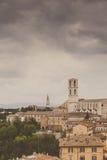 Perugia-Skyline gesehen Stockfotografie