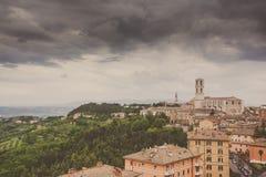 Perugia-Skyline gesehen Lizenzfreie Stockbilder