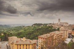 Perugia-Skyline gesehen Stockbilder