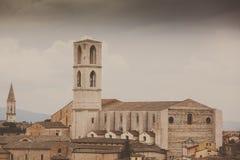 Perugia-Skyline gesehen Stockfoto