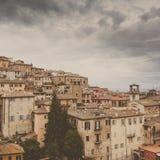 Perugia-Skyline gesehen Stockbild