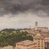 Perugia-Skyline gesehen Stockfotos