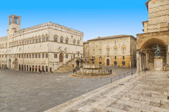 Perugia square Royalty Free Stock Photos