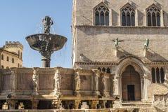 Perugia - fuente monumental foto de archivo libre de regalías