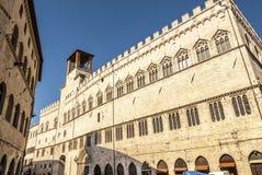 Perugia - historisk byggnad Arkivbild