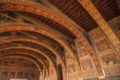 Perugia inre av den historiska slotten royaltyfria foton