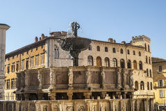 Perugia - Monumental fountain Stock Photos