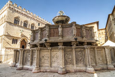 Perugia - Monumental fountain Stock Photography