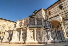 Perugia - Monumental fountain Stock Images