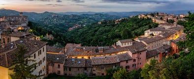 Perugia (Umbria Italy) view from Porta Sole Stock Photos