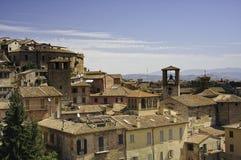 Perugia, vecchie case italiane Fotografia Stock