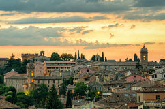 Perugia & x28;Umbria& x29; panorama from Porta Sole Stock Photography