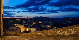 Perugia (Umbria) panorama from Porta Sole Royalty Free Stock Photo