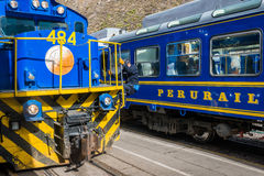 Perurail train peruvian Andes  Cuzco Peru Royalty Free Stock Photography