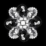 Perus preto e branco, teste padrão Fotografia de Stock