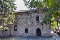 PERUSHTITSA,保加利亚- 2016年9月4日:达诺夫学校从19世纪, Perushtitsa,普罗夫迪夫地区大厦  免版税库存图片