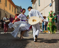 Peruviaanse dansers royalty-vrije stock foto's