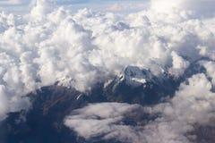 Peruviaanse de Andes bekeken vorm hierboven royalty-vrije stock fotografie