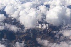 Peruviaanse de Andes bekeken vorm hierboven royalty-vrije stock afbeelding